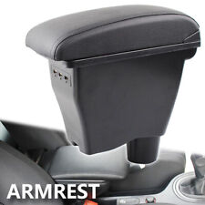 Leather Car Storage Box For Smart Fortwo 2015 Arm Rest USB Modification 453