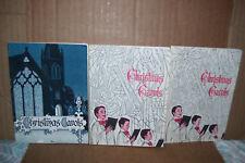 Lot of 3 1959, 1965, 1970 Christmas Carol Book by John Hancock Life Insurance Co