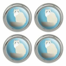 Ragdoll Cat Metal Craft Sewing Novelty Buttons - Set of 4