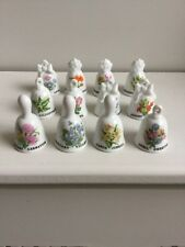 Superb set of miniature bells 12 months of bells