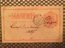 1893 UX5 Hawaii Postcard Lucy Peabody Queen Emma