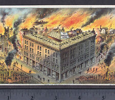 Fire 1800's Burning Church Fireman Rescue Smith Steel Iron Roofing Canton O Card