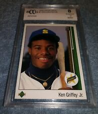 1989 Upper Deck Ken Griffey Jr Rookie Card # 1 Grade 8 BCCG