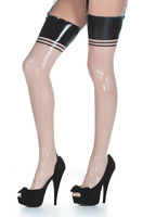 Latex Catsuit Gummi Rubber Feet Long Stockings Sexy 3 Trims Customized 0.4mm
