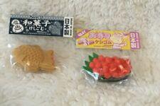 Nwt Set of 2 Japanese erasers ikura sushi and taiyaki