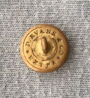 Civil War Relic Rhode Island Officer Cuff Button D Evans & Co EXTRA Non Dug