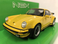 Porsche 911 Turbo 3.0 Giallo 1974 Welly 1: 24-27 Scala 24043Y Nuovo