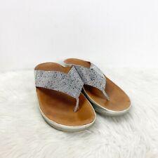 FitFlop 9 Womens Rhinestone Embellished Comfort Thong Sandals
