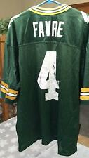 PRE-OWNED NFL GREEN BAY PACKERS QB BRETT FAVRE #4 NIKE JERSEY MEN'S SIZE XL