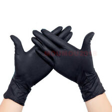 10,50,100Pc Black Strong Nitrile Gloves Powder Latex Free Mechanic Tattoo Gloves