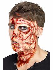 Disfraz de Halloween Látex quemado rostro cicatriz efecto maquillaje by Smiffys