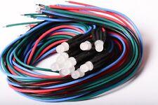 10 LED RGB CAMBIACOLORE FOGGY 5mm CABLATI 30cm CON RESISTENZA 12v CON CAVO A1C17