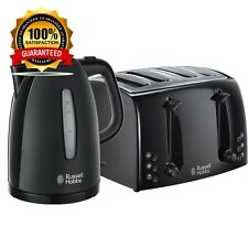 Brand New Russell Hobbs Textures Black  1.7L Kettle and 4 Slice  Toaster Set