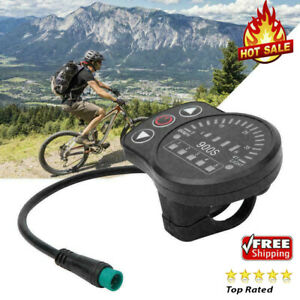 KT-900S Electric LED Display Meter with Waterproof Connector for Bicycle Bike❤G