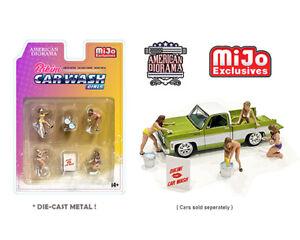 American Diorama M&J Exclusive Bikini Car Wash Girls 1/64 Scale Figures