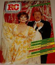 TV RADIOCORRIERE=1981/52=GINA LOLLOBRIGIDA=DOMENICO MODUGNO=DRUPI=PAVAROTTI=