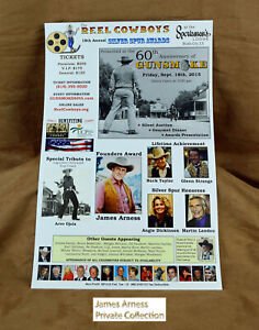 James Arness Marshal Dillon The Reel Cowboys 18th Annual Silver Spurs Poster