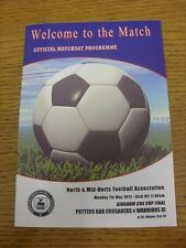 07/05/2012 North And Mid-Hertfordshire Bingham Cox Cup Final: Potters Bar Crusad