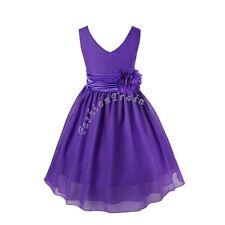 Flower Girl Dresses Bow Waist Tutu Gown Party Princess Wedding Bridesmaid Dress