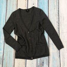 Talbot's P X/XS Womens Cardigan Sweater Gray Merino Wool