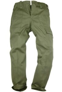 MILITARY OG COMBAT CARGO PANTS Gents 36 w plain olive British Army Nato trousers