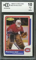 1986-87 o-pee-chee #53 PATRICK ROY canadiens rookie card (CENTERED) BGS BCCG 10