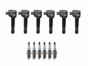 Denso 6 Ignition Coils & 6 Iridium Long Life Spark Plugs .044 Kit For Acura 3.7L