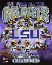 LSU TIGERS All-Time Greats Glossy 8x10 Photo Print College Football Poster