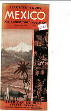 Escorted Tours Mexico Pullman Summer Fall 1937 American Express Brochure
