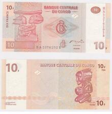 CONGO 10 FRANCS UNC  # 378