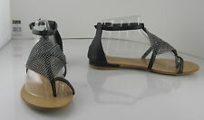 Summer Black Womens Shoes Roman Gladiator Sandals Size 7