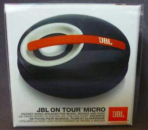 JBL ON TOUR MICRO PORTABLE IPOD IPHONE IPAD MP3 LAPTOP PC SPEAKER SYSTEM BLACK
