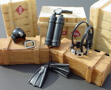 Scuba Diving Gear Miniatures 6 PC Set Awesome 1/24 Scale Diorama Accessory Items