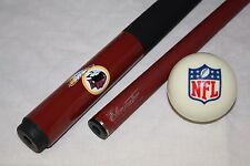 Official NFL Washington REDSKINS Billiard Pool Cue Stick & NFL Logo Cue Ball