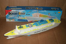 """1/500 Scale 19"""" Ocean Liner Cruise Ship Plastic Model - Lights & Sounds Toy Boat"""