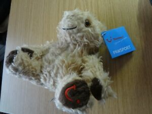 Thomson TUI Holidays Miles the One Eyed Teddy Bear Soft Toy Pawsport Plush❤️ New