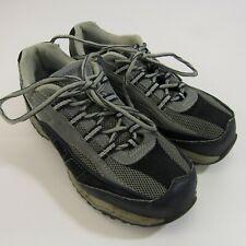 Brahma Amy Women's Leather 6.5 Work Shoes Gray Blue Steel Toe Safety Sneakers