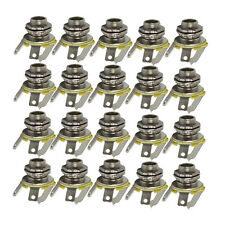 "New Set 20PCS 6.35mm 1/4"" Mono Jacks Electric Guitar Jacks Socket Chrome Metal"