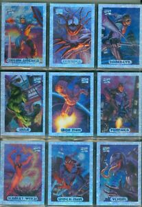 Marvel Masterpiece 1994  10 Card HoloFoil Insert Set from Skybox