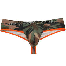 Men's Camouflage Mini Thong Boxers Underwear Male Boxer Briefs Soft Underpants