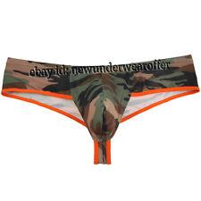 Men's Camouflage Mini Thong Boxers Underwear Male Boxer Briefs Soft Underpants