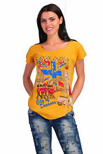 Casual T-Shirt London City Print 100% Cotton Top Party Tunic Sizes 8-12 FB173
