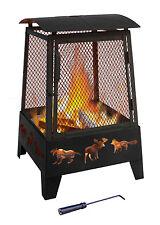 "Landmann 25319 22"" Haywood Wildlife Outdoor Fireplace in Black"