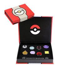 Pokemon Orden / Johto Region / 8 Pins in Box / Geschenkidee