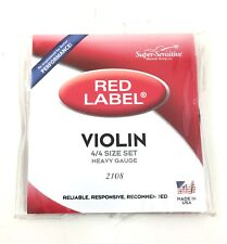 Super Sensitive Red Label Violin String Set (4/4) Heavy