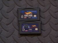 Lot Nintendo Game Boy Advance GBA Games Hot Wheels Titles 2