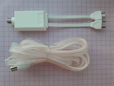 75 Ohm coaxial 240/300 Ohms IEC 3-pin antenne FM Adaptateur Avec Doublet