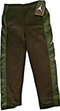 NEW NWT BOYS 7LGG SWEAT PANTS/ SZ:6/7 (116 TO 122 CMS) /THERMA FIT/BLACK & GREEN