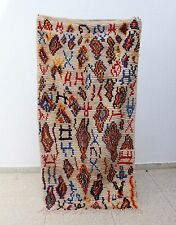 100% Authentic High Quality Azilal Moroccan rug Wool 7'4 x 3'8 Beni Ourain