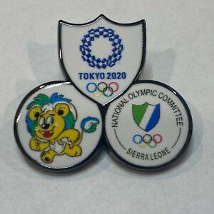 Sierra Leone Tokyo 2020 NOC Pin Badge (Dated)